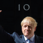 Boris Johnson enters 10 Downing Street